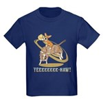 Bull Rider Corgi Kids Dark T-Shirt