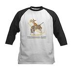 Bull Rider Corgi Kids Baseball Jersey