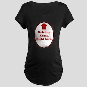 Ketchup Krazy Maternity Dark T-Shirt