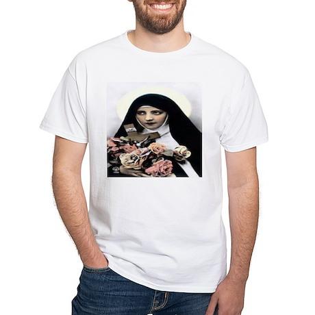 St. Theresa White T-Shirt