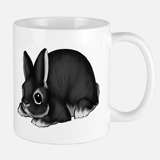 Black Silver Marten Mug