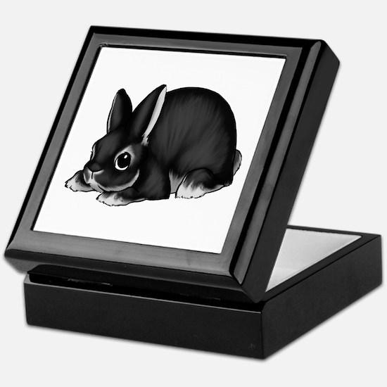 Black Silver Marten Keepsake Box
