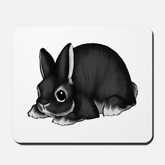 Black Silver Marten Mousepad