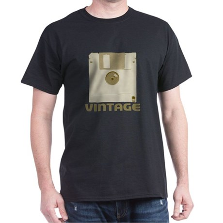 Vintage Floppy Black T-Shirt