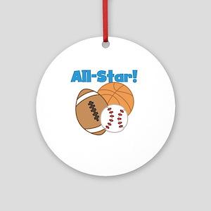 All Star Ornament (Round)