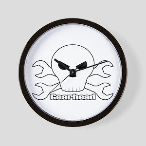 Gearhead Skull Wall Clock