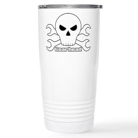 Gearhead Skull Stainless Steel Travel Mug