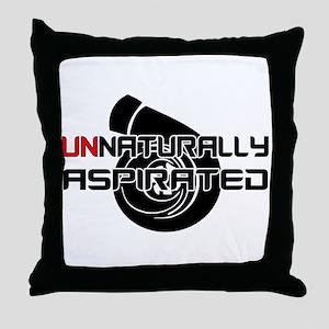 Unnaturally Aspirated Throw Pillow