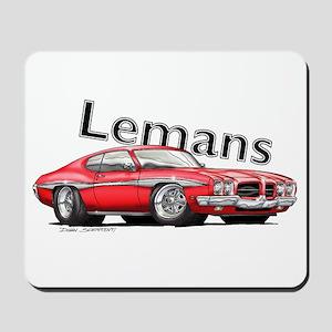 Red Pontiac Lemans Mousepad
