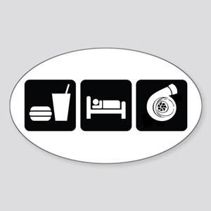 Eat Sleep Boost Sticker (Oval)