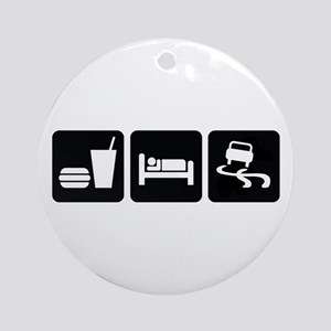 Eat Sleep Drift Ornament (Round)