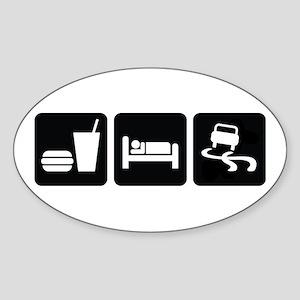 Eat Sleep Drift Sticker (Oval)
