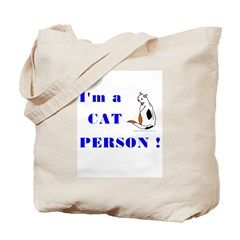 I'm a Cat Person Tote Bags