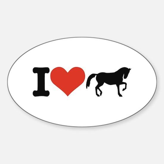 I love horses Sticker (Oval)