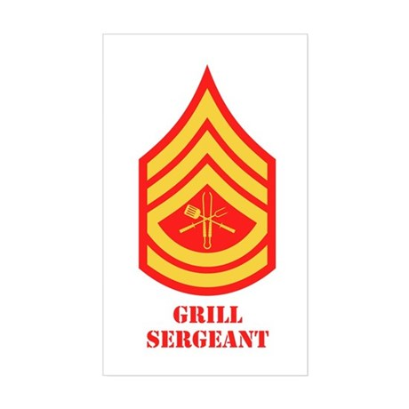 Grill Sgt. Rectangle Sticker