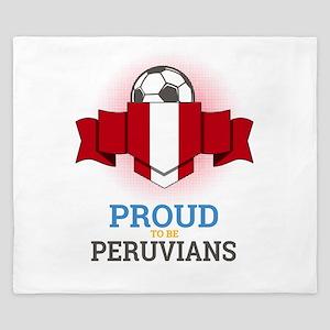 Football Peruvians Peru Soccer Team Spo King Duvet