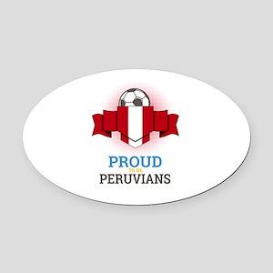 Football Peruvians Peru Soccer Tea Oval Car Magnet