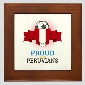 Football Peruvians Peru Soccer Team Sp Framed Tile
