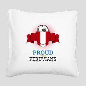 Football Peruvians Peru Socce Square Canvas Pillow