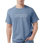 Happiest When Traveling With A Dog (white) T-Shirt