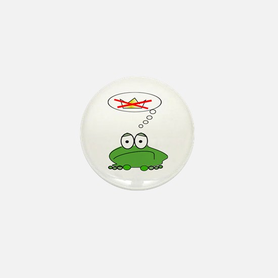 Sad Frog Prince Mini Button