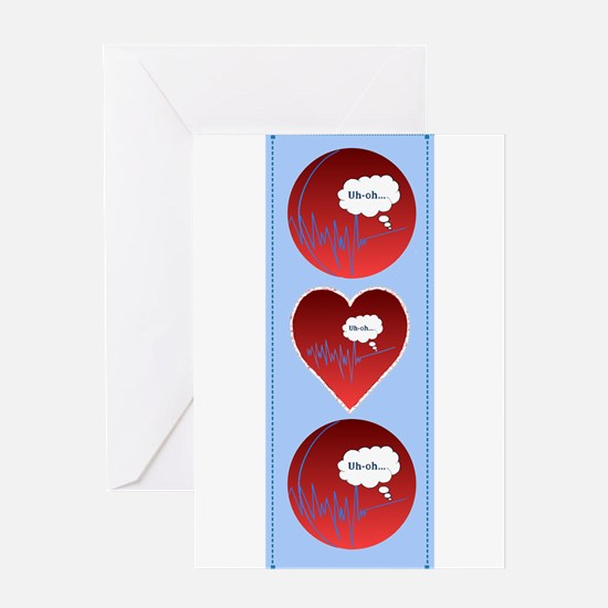 Uh Oh FlatlineTri-v Greeting Card