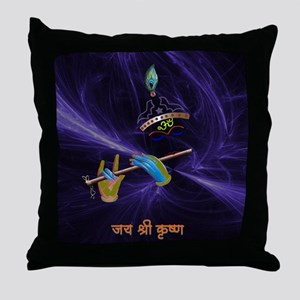 Krishna - The Flute Player Throw Pillow