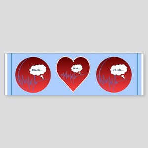 Uh Oh FlatlineTri-v Bumper Sticker