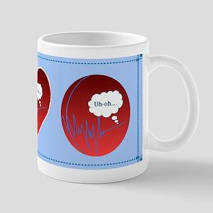 Uh Oh FlatlineTri-v Mug