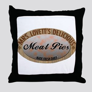 Mrs. Lovett's Famous Meat Pie Throw Pillow
