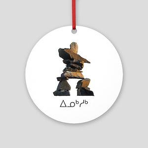 Inukshuk Ornament (Round)
