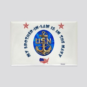Navy Brother-in-Law Rectangle Magnet