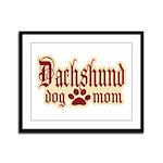 Dachshund Mom Framed Panel Print