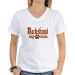 Dachshund Mom Women's V-Neck T-Shirt