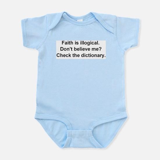 Faith is Illogical Infant Creeper