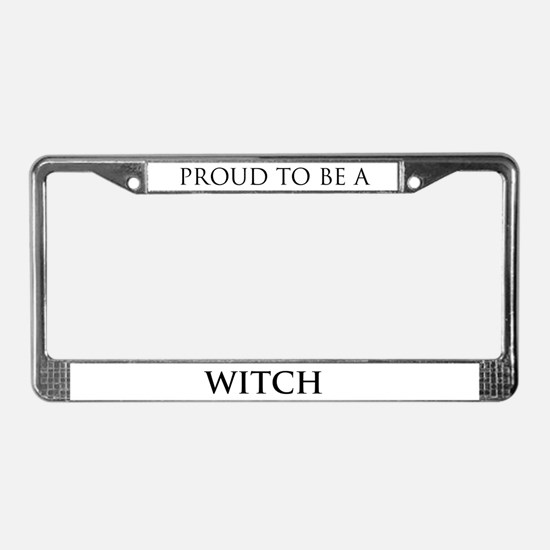 Proud Witch License Plate Frame