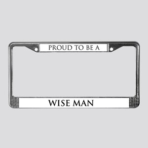Proud Wise Man License Plate Frame