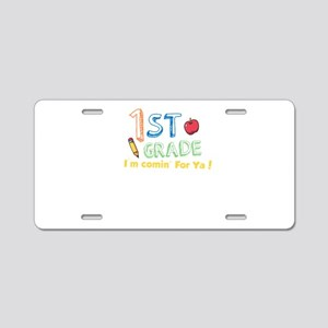 1st Grade I'm Comin&#39 Aluminum License Plate