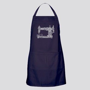 Sewing Machine T Shirt Apron (dark)