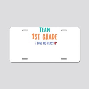 Team 1st Grade I Love My Cl Aluminum License Plate