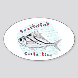 Roosterfish Oval Sticker