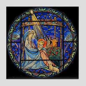 Nativity window Tile Coaster