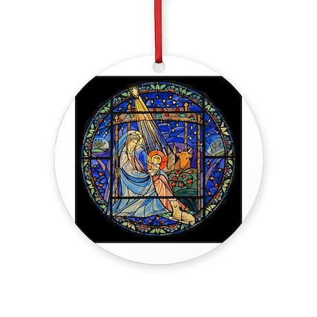 Nativity window Ornament (Round)