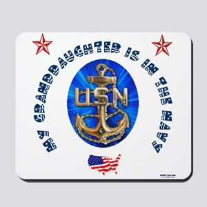 Navy Granddaughter Mousepad