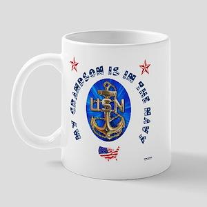 Navy Grandson Mug