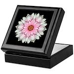 Pink and White Dahlia I Keepsake Box