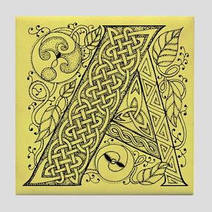 Celtic Letter A Tile Coaster
