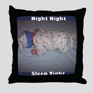 """Night Night"" Cutest Baby Ever Throw Pillow"