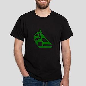 Green Sailboat Dark T-Shirt