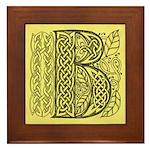 Celtic Letter B Framed Tile